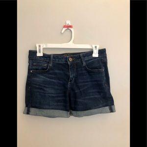 Mid-thigh Denim Shorts